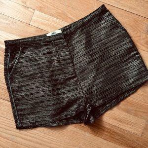 Ya Los Angeles Metallic Gold Dress Shorts